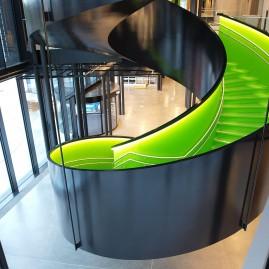 Stjørdal Kulturhus, trapp