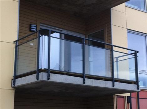 Rekkverk veranda glass