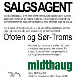 Midthaug søker ny salgsagent for Ofoten og Sør-Troms