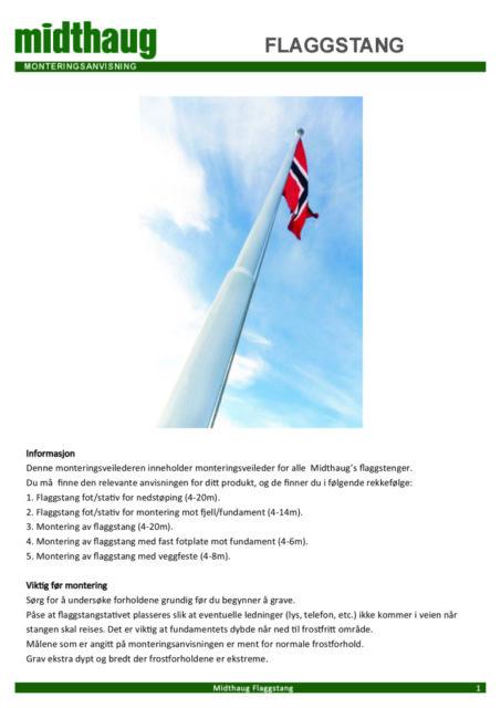 thumbnail of Monteringsanvisning Flaggstang