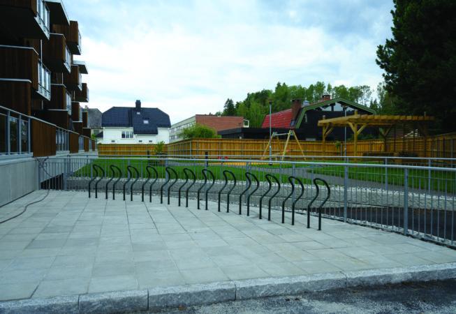 Hønen Terrasse i Hønefoss, 7. august 2021.Foto: Trond Joelson, Byggeindustrien